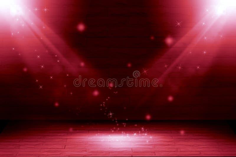 Abstrakta dwa lekki czerwony tło: pełnia przedmiot ilustracji