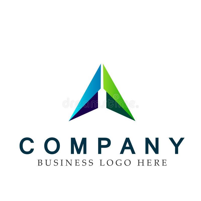 Abstrakta dwa strzałkowaci kierunki skupiali się loga, na Korporacyjnym Inwestują Biznesowego loga projekt Pieniężna inwestycja n ilustracja wektor