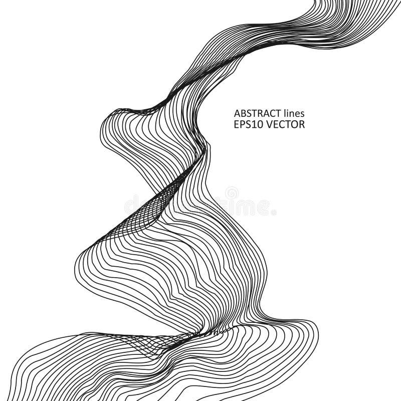 Abstrakta dynamiska linjer fotografering för bildbyråer