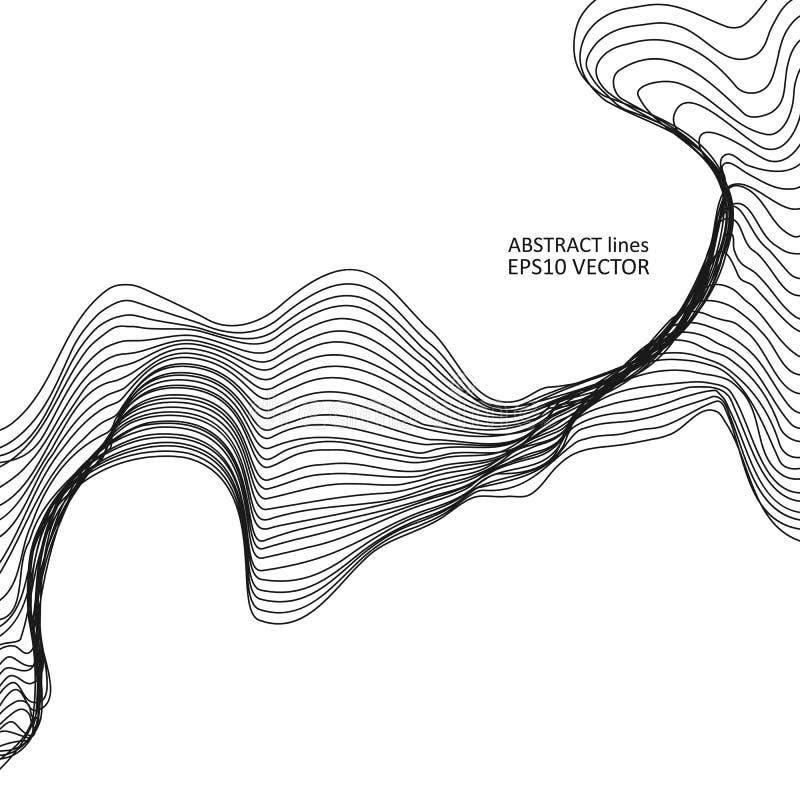 Abstrakta dynamiska linjer arkivbild