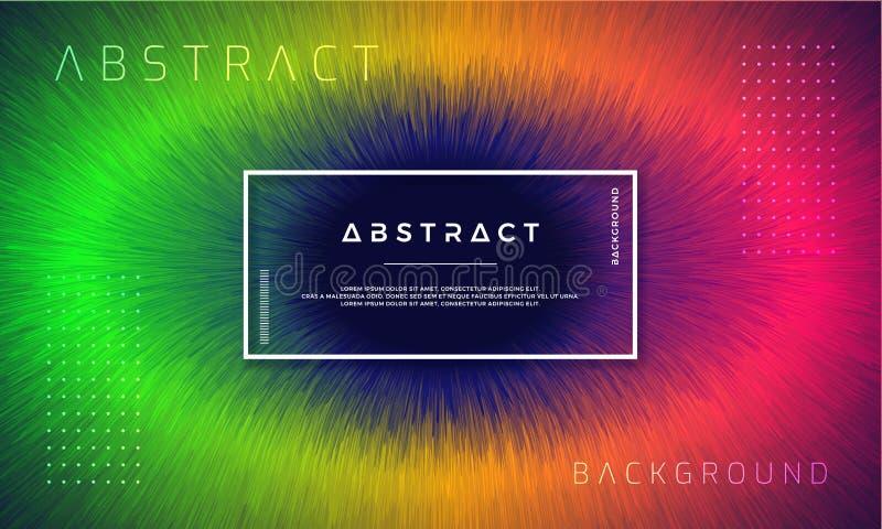 Abstrakta, dynamiska moderna bakgrunder för dina designbeståndsdelar och andra, med grön, orange och röd lutningfärg royaltyfri illustrationer