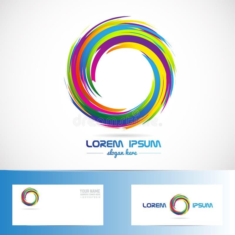 Abstrakta färger för cirkelaffärslogo stock illustrationer