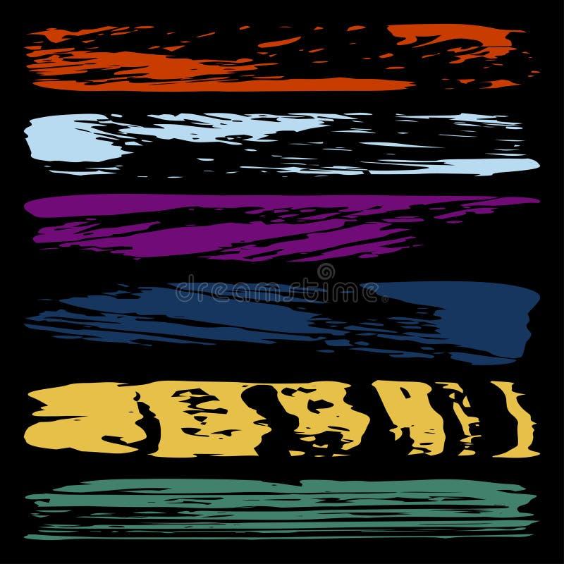 Abstrakta färglinjer för grafitti vektor illustrationer