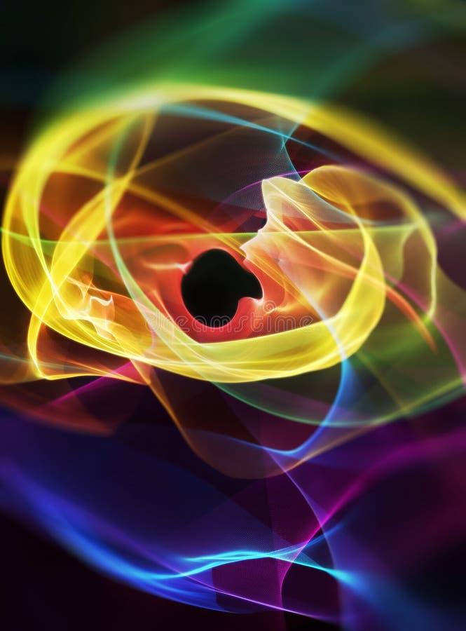 Abstrakta färgljusvirvlar arkivbilder