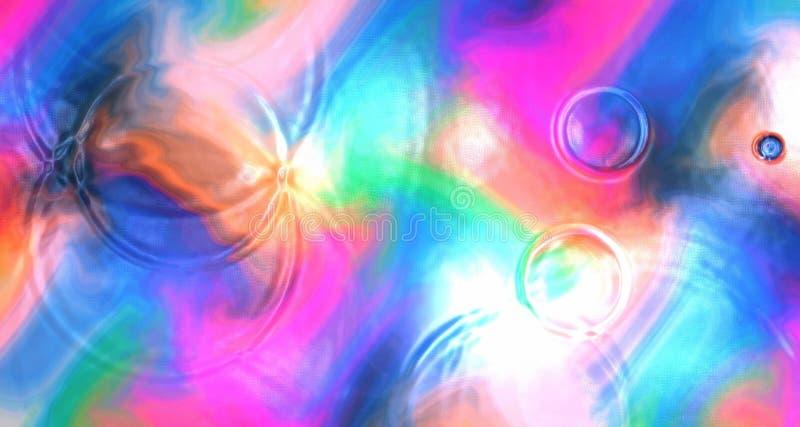 Abstrakta färgrika cirklar för vågor för krusningar för tapetbakgrundsvatten royaltyfria foton