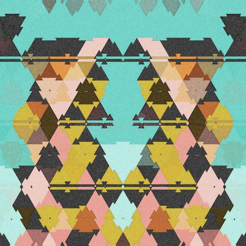 Abstrakta färgrika familjfåglar i vår stock illustrationer