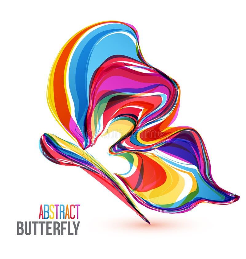Abstrakta färgrika fjärilar för vektor stock illustrationer