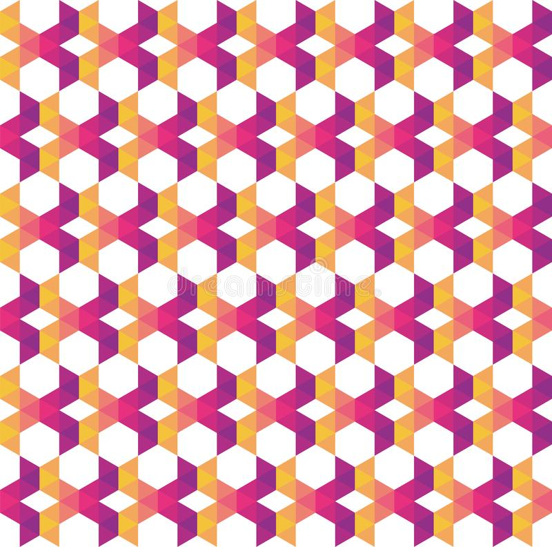 Abstrakta färgrika geometriska och moderna överlappande trianglar på vektor illustrationer