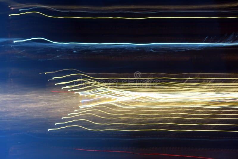 Abstrakta färgrika ljusa linjer arkivbild