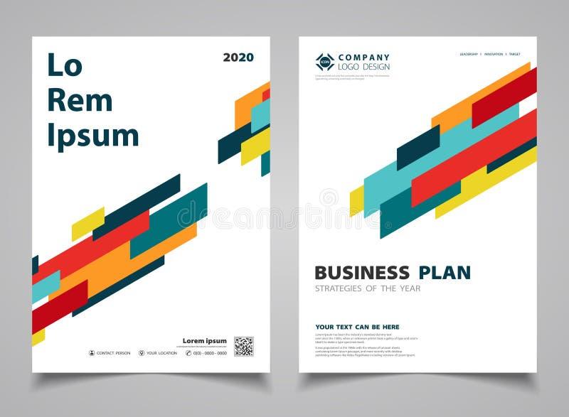 Abstrakta färgrika moderna bandlinjer planlägger broschyrdesignbakgrund Illustrationvektor eps10 stock illustrationer
