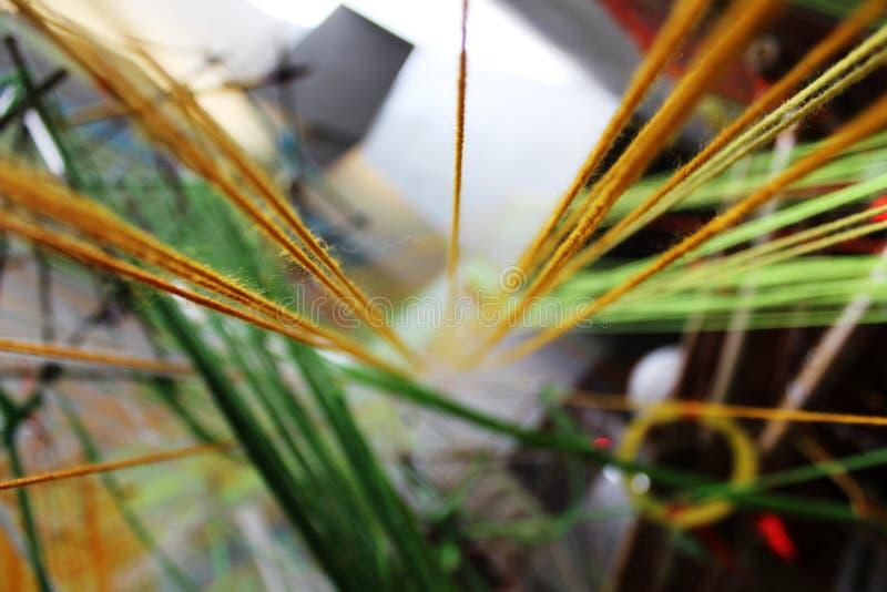 Abstrakta färgrika rep royaltyfri foto