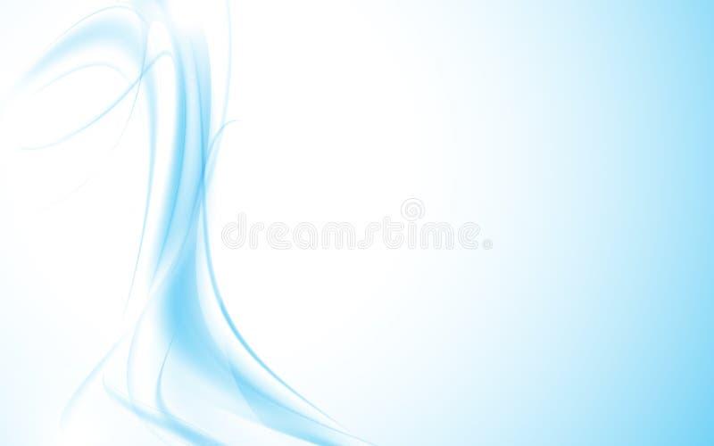 Abstrakta falistego wzoru falowego gładkiego błękitnego rzadkopłynnego projekta czysty tło ilustracji