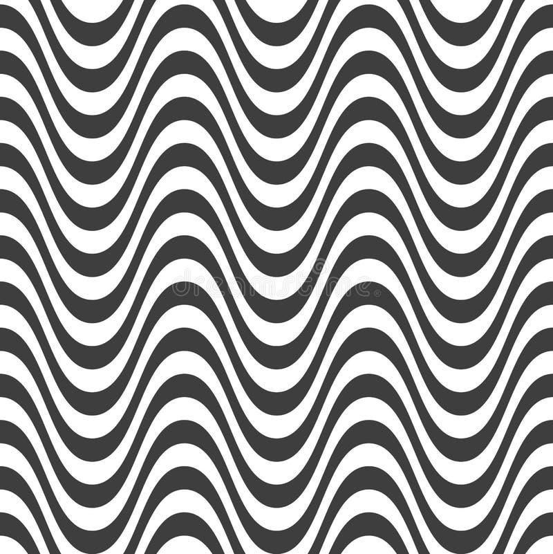 Download Abstrakta Falowy Bezszwowy Deseniowy Projekt Ilustracja Wektor - Ilustracja złożonej z kolor, element: 53775463
