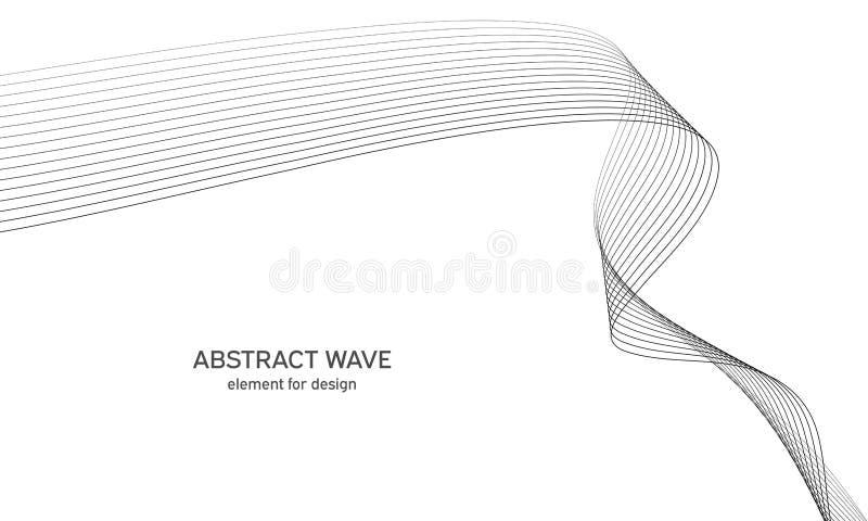 Abstrakta falowy element dla projekta Cyfrowej częstotliwości śladu wyrównywacz Stylizowany kreskowej sztuki tło również zwrócić  royalty ilustracja