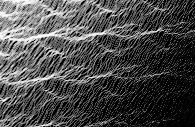 Abstrakta falowy tło Hałas struktura z kropkami Wektorowy illu ilustracji