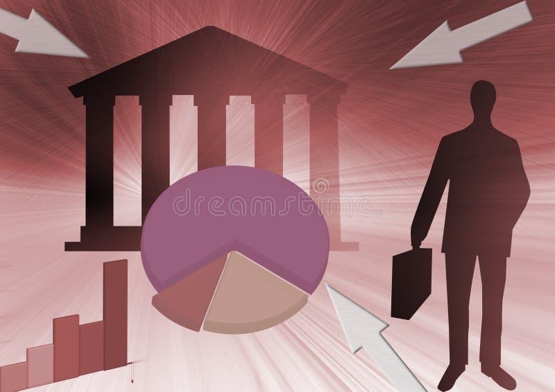 abstrakta finansowania handlu ilustracja wektor