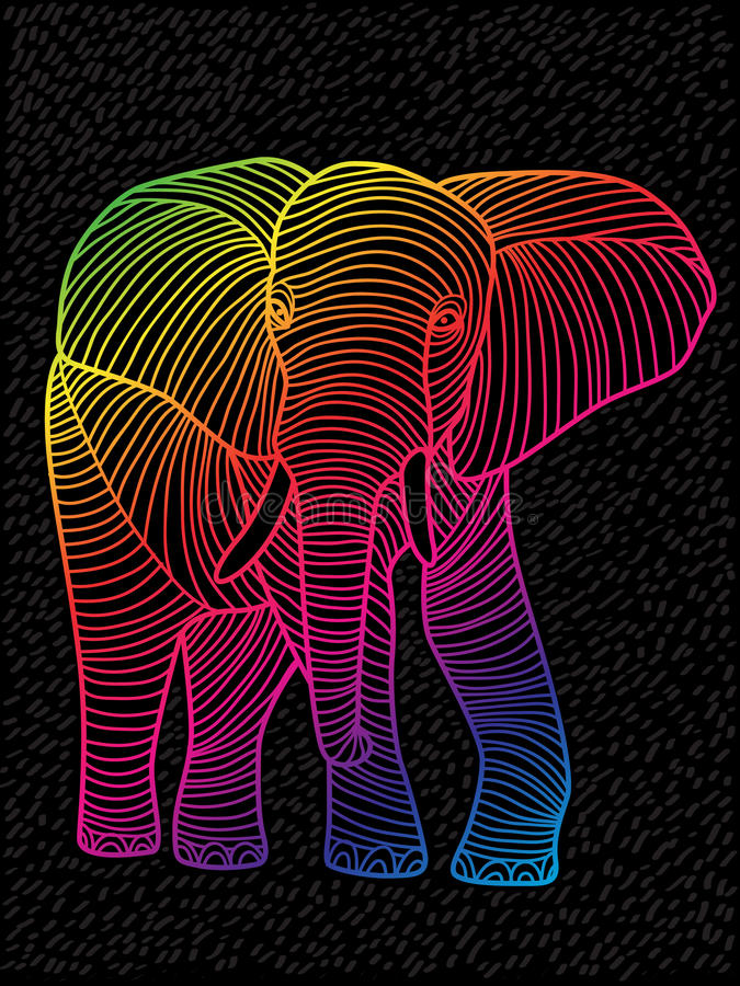 Abstrakta fodrad design för vektorkonst spektra stock illustrationer