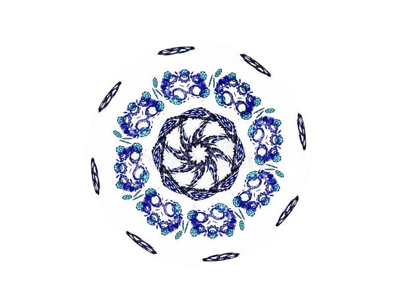 Abstrakta fractalmodeller och former Fractaltextur f?r tryck royaltyfri illustrationer