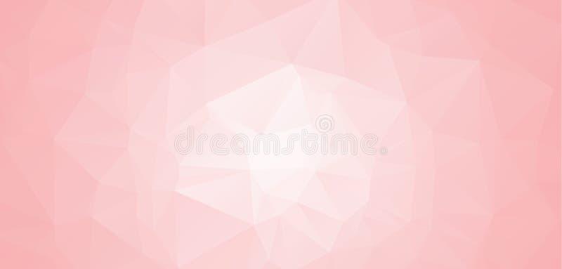 Abstrakta abstrakta geometriska bakgrunder för rosa färger och för vit Polygonal vektor Abstrakt polygonal illustration, som best stock illustrationer