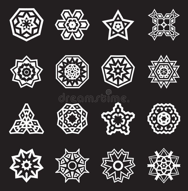Abstrakta geometriska beståndsdelar, etnisk Aztec för modell eller Maya Vector stock illustrationer