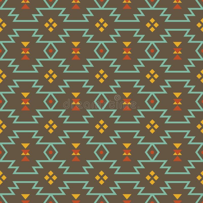 Abstrakta geometriska beståndsdelar för vektor för ram, gränsbeståndsdelar, modell, etnisk samling, stam- aztec konst vektor illustrationer