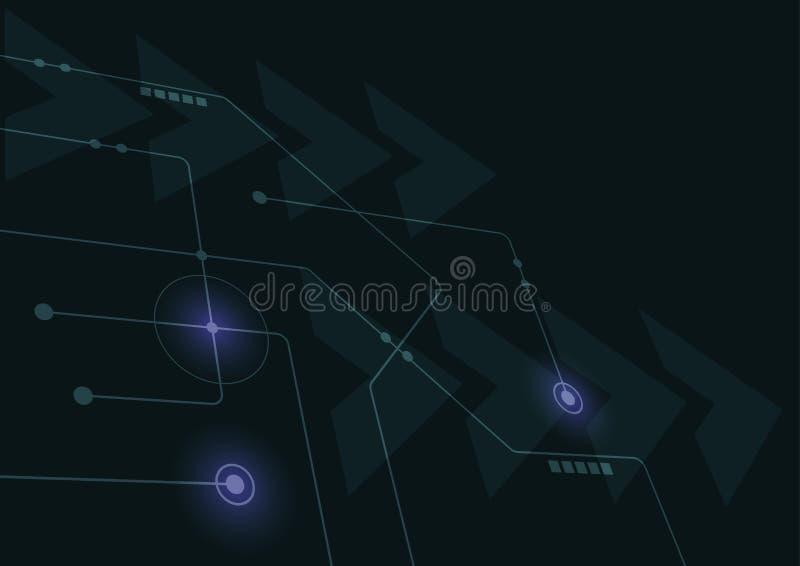 Abstrakta geometriska förbinder linjer och prickar Enkel teknologidiagrambakgrund Nätverk och anslutning för illustrationvektorde vektor illustrationer