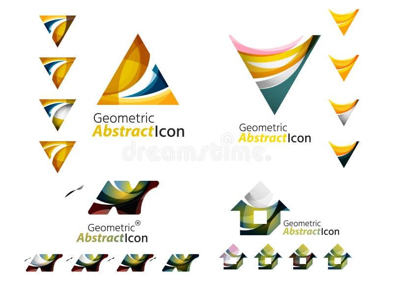 Abstrakta geometriska former för universal - affär royaltyfri illustrationer