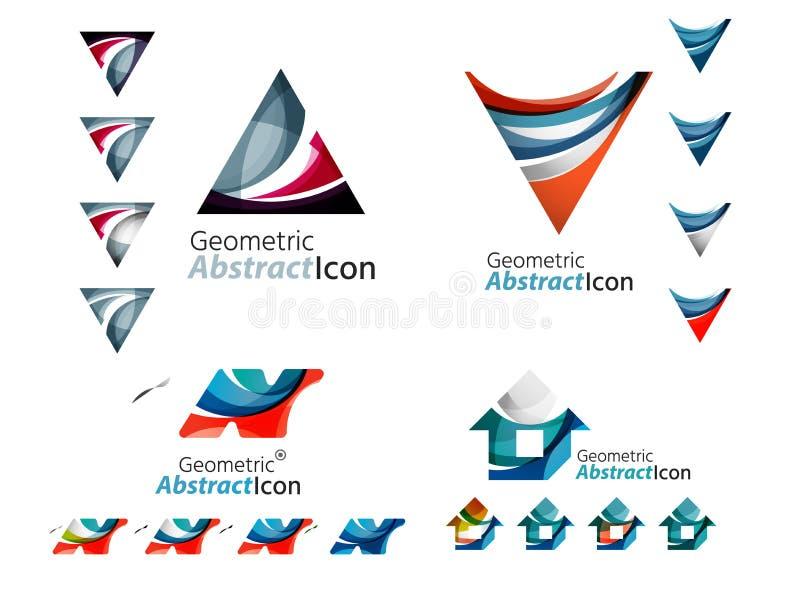 Abstrakta geometriska former för universal - affär vektor illustrationer