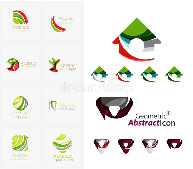 Abstrakta geometriska former för universal - affär stock illustrationer