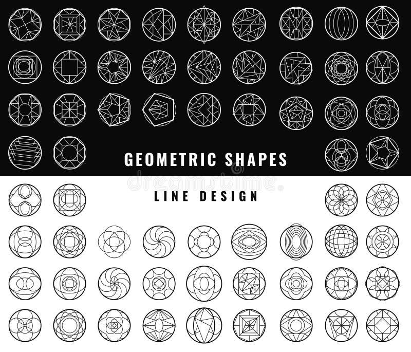 Abstrakta geometriska former för vektor royaltyfri illustrationer
