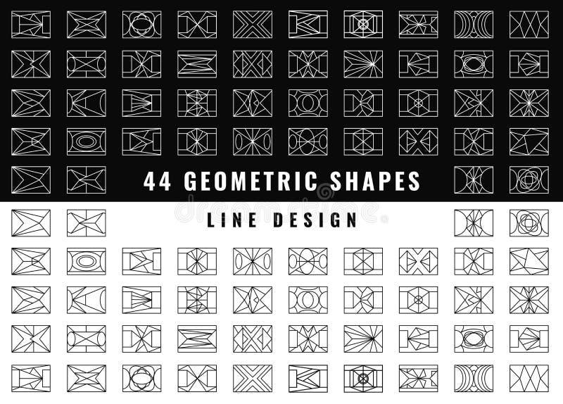 Abstrakta geometriska former för vektor vektor illustrationer