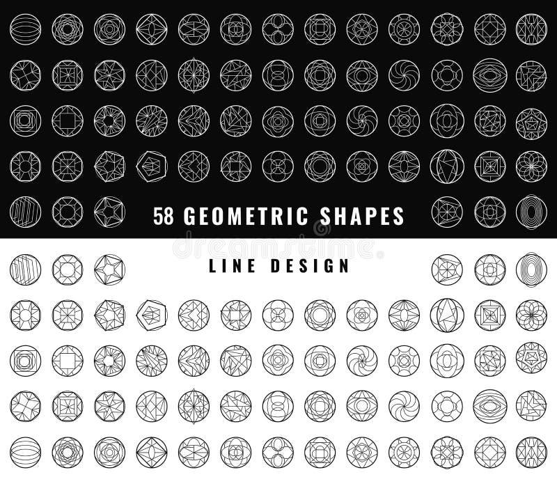 Abstrakta geometriska former för vektor stock illustrationer