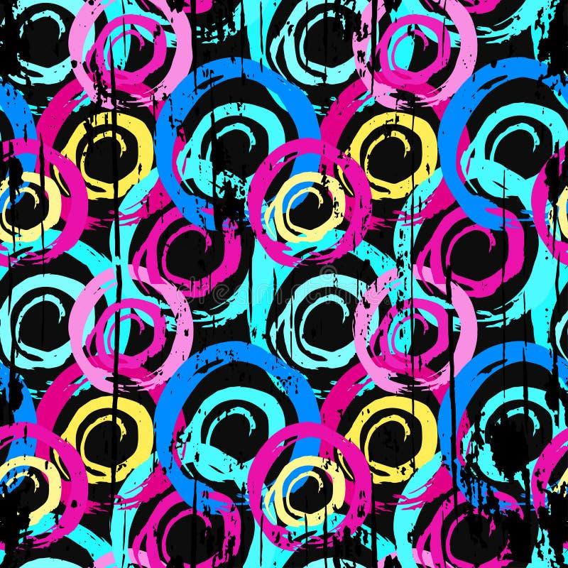 Abstrakta geometriska objekt f?r grafitti p? en svart bakgrund royaltyfri illustrationer