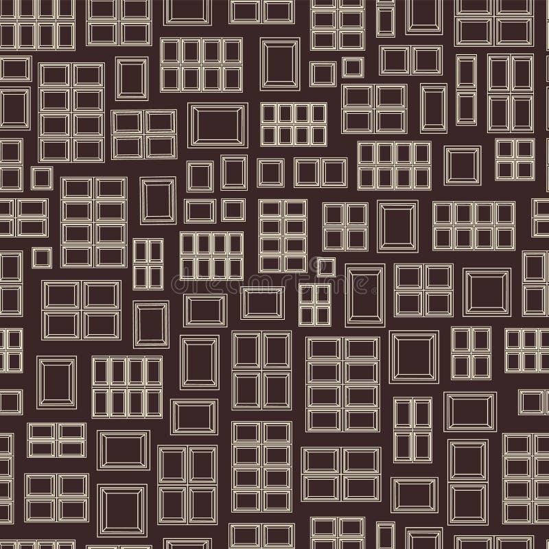 Abstrakta geometriska rektangelformer som frammanar chokladminnestavlor i en sömlös modellbakgrund vektor illustrationer