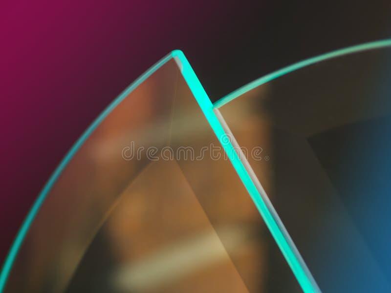 Abstrakta glass reflexioner royaltyfri foto