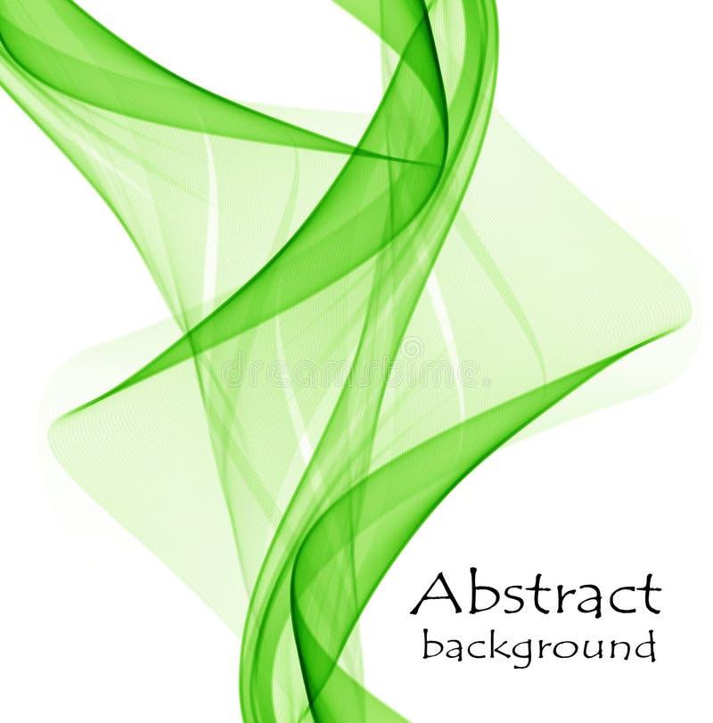 Abstrakta gröna vågor på en vit backgroundgreen royaltyfri illustrationer