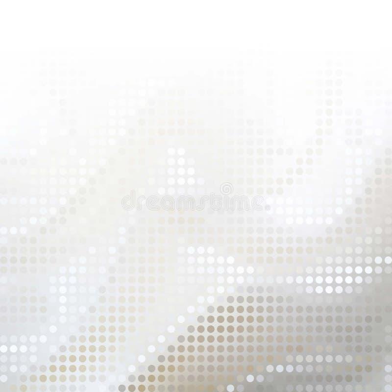 Abstrakta Gray Technology Background, vektor royaltyfri illustrationer