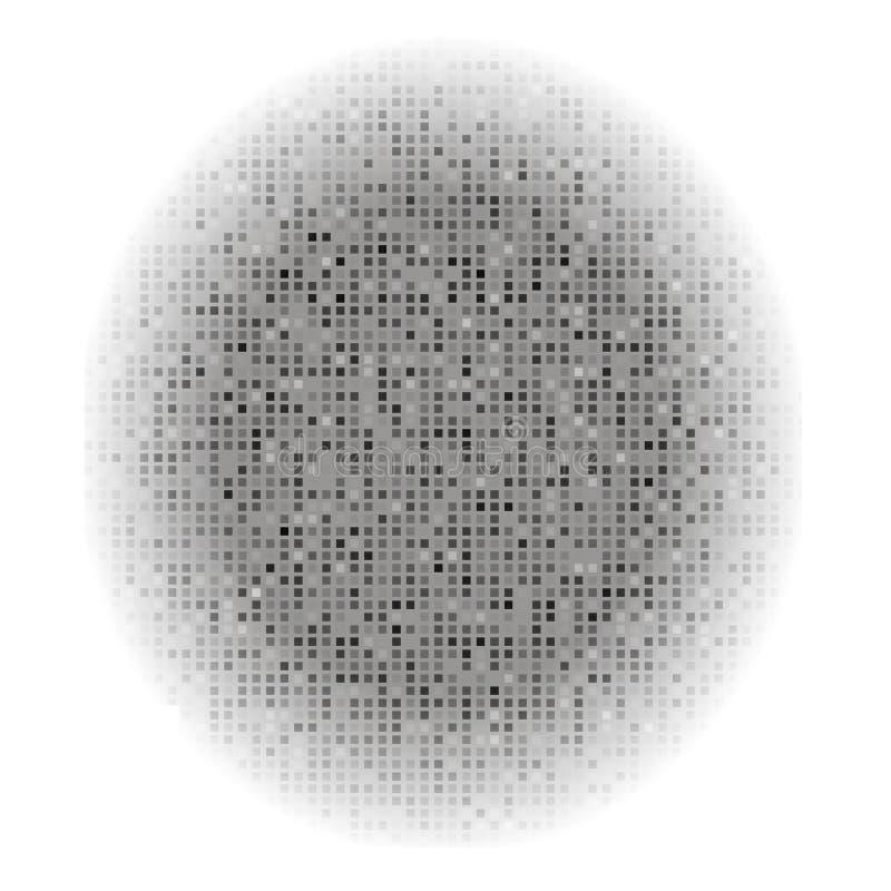 Abstrakta Grey Creative Pixel Technology Background royaltyfri illustrationer