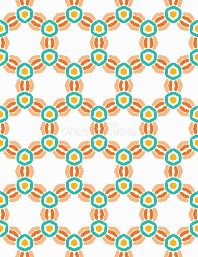 Abstrakta gripa in i varandra fnurencirklar S?ml?s bakgrund f?r vektormodell Utdragen damast f?r hand Spiralt diagram f?r prick70 stock illustrationer