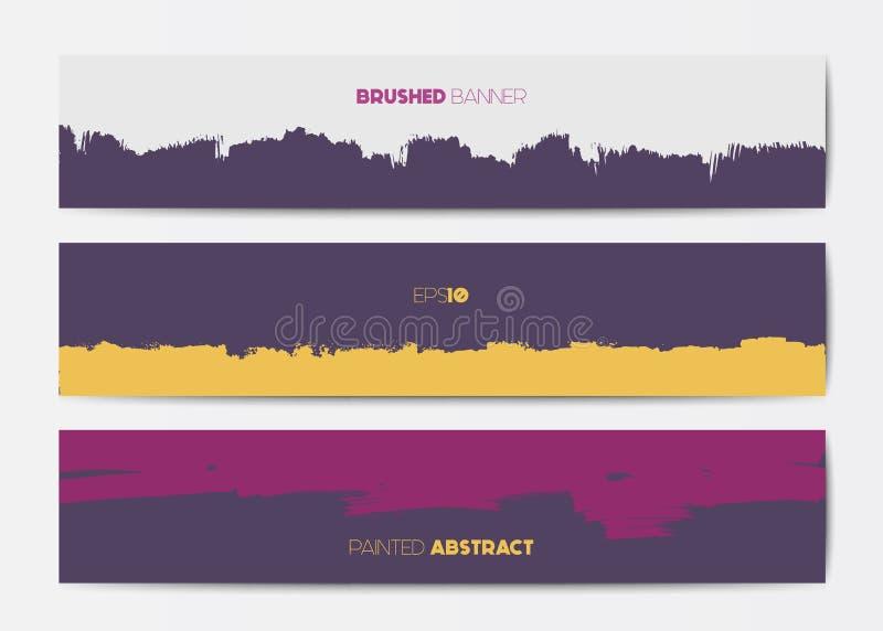 Abstrakta grungebanermallar vektor illustrationer