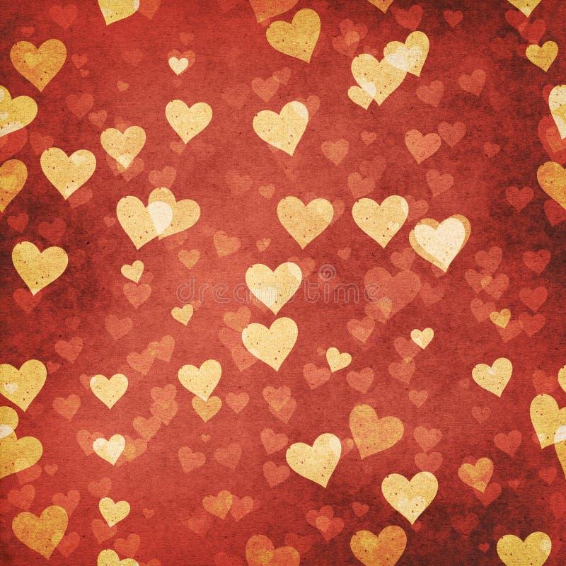 Abstrakta grungy valentinbakgrunder royaltyfri illustrationer