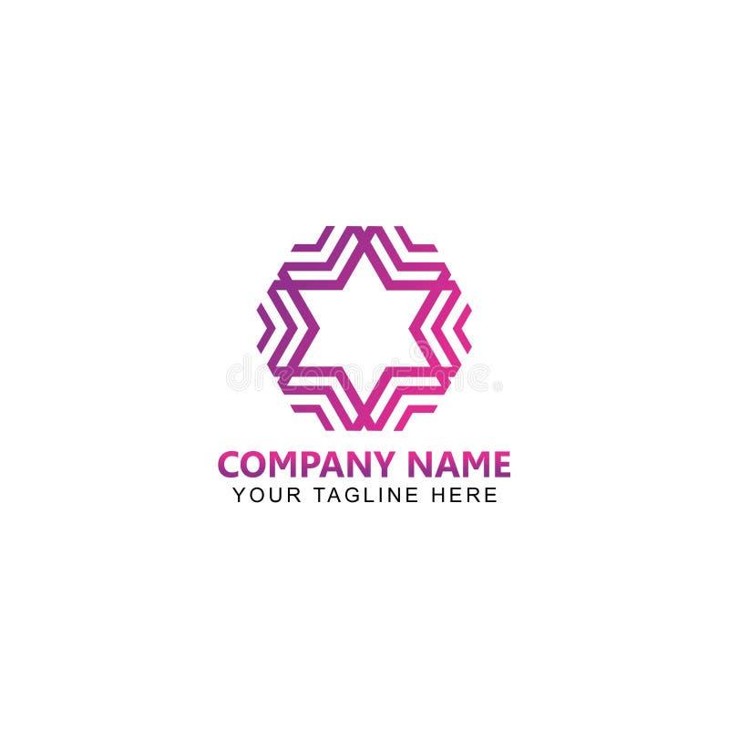 Abstrakta Gwiazdowego logo Wektorowy projekt royalty ilustracja
