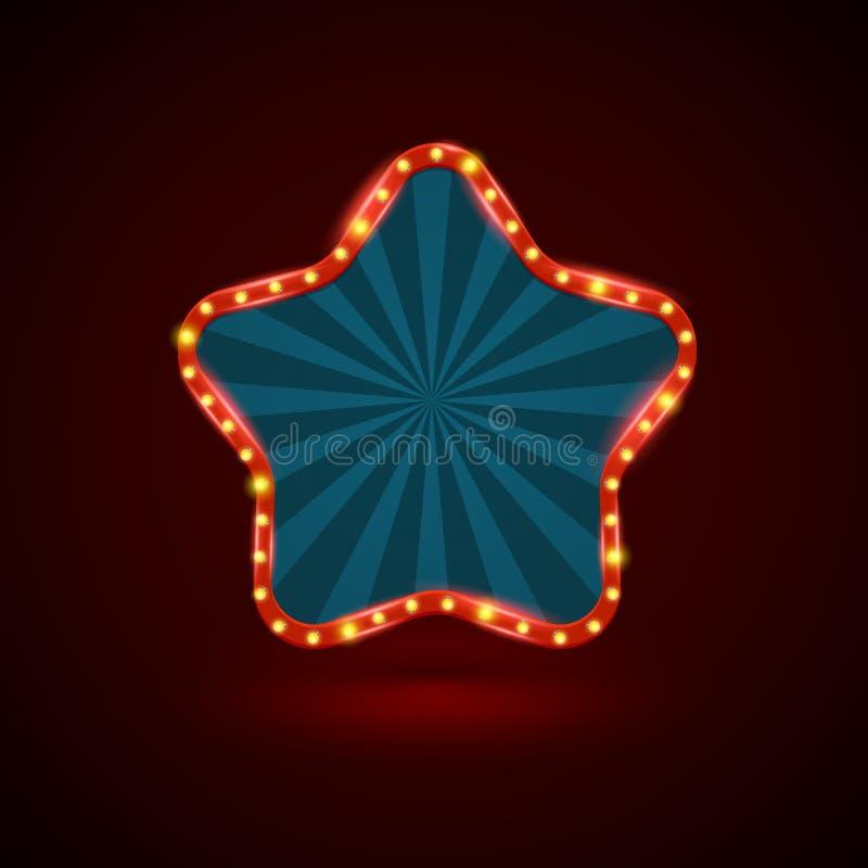 Abstrakta gwiazdowy retro lekki sztandar royalty ilustracja
