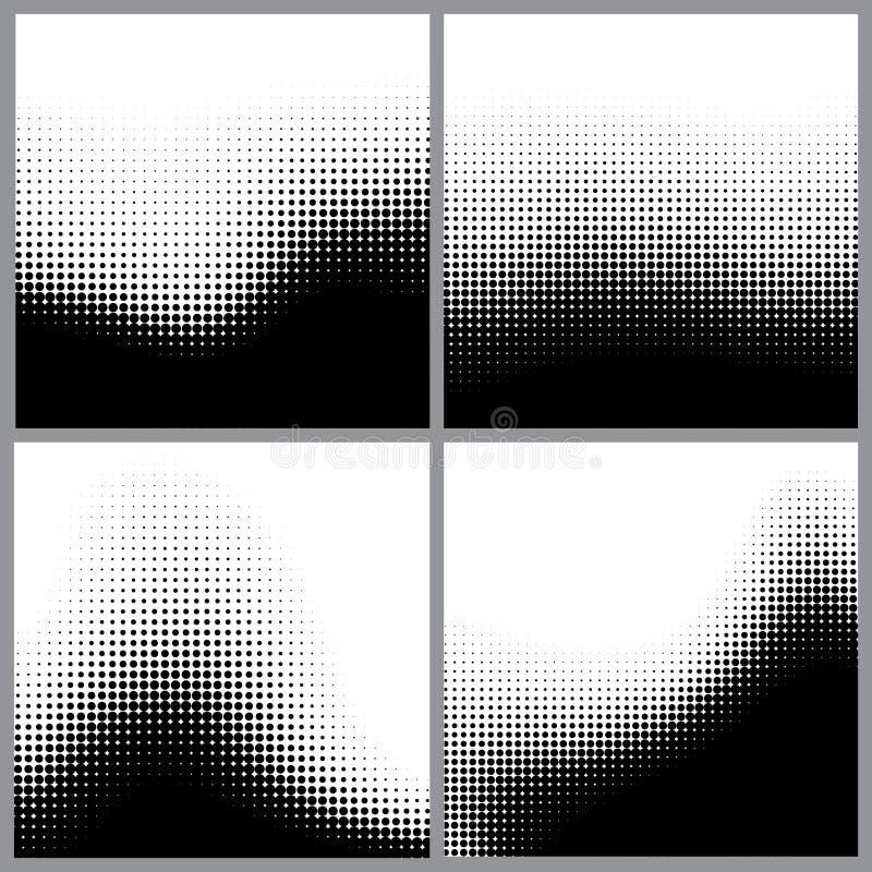 Abstrakta halvtonprickar för grungebakgrund vektor illustrationer