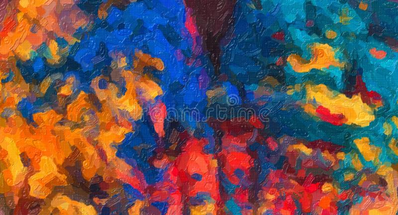 Abstrakta Holi Art Impasto Painting, Holi konst, färgrik målning arkivfoton