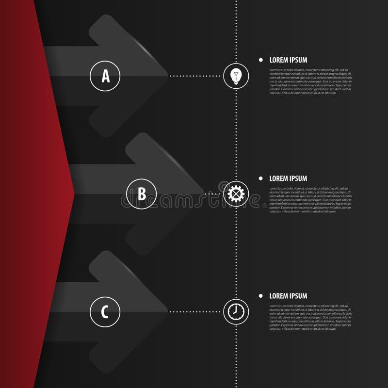 Abstrakta Infographics modern mall för design vektor royaltyfri illustrationer