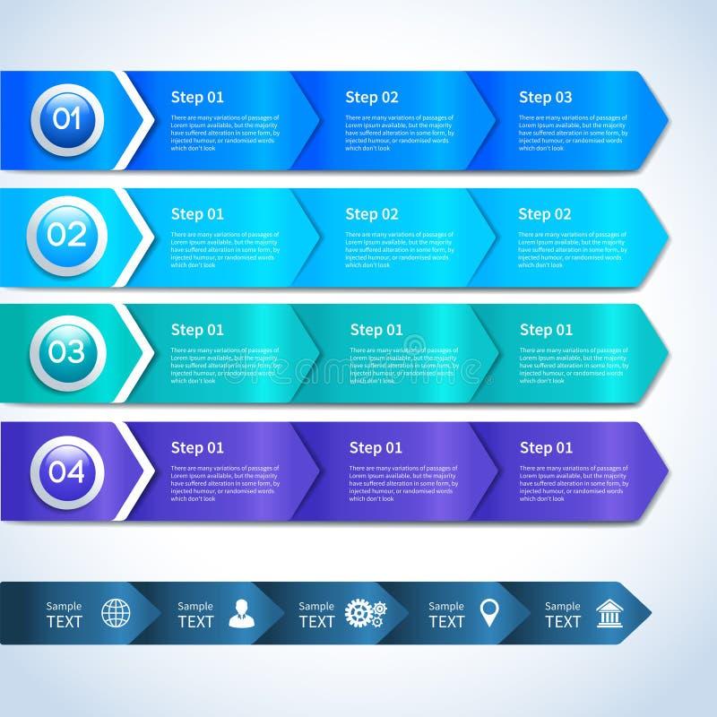 Abstrakta infographics papierowi biznesowi elementy ilustracja wektor