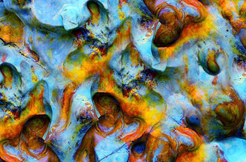 Abstrakta kamienia tekstury i kształty zdjęcia royalty free