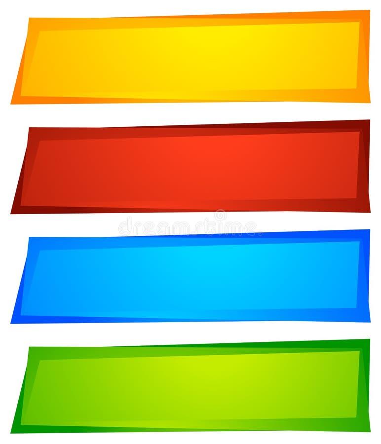 Abstrakta knapp- eller banerbakgrunder, former abstrakt färgrikt stock illustrationer