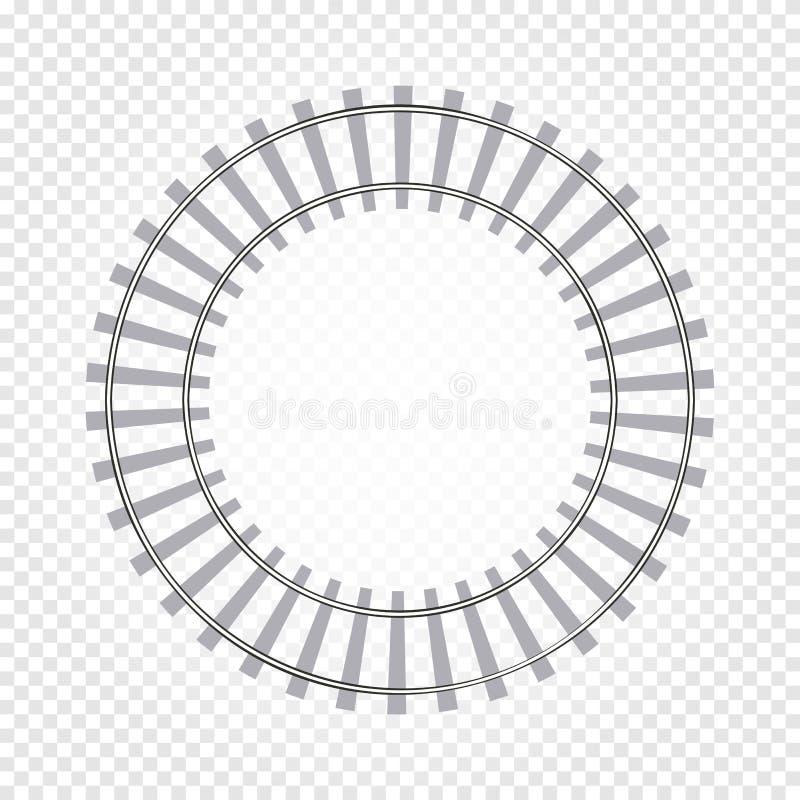abstrakta koloru round kształta popielata kolejowa droga na w kratkę tle, szermiercza wektorowa ilustracja ilustracja wektor